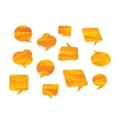 Speech bubbles coloured in honey colours vector