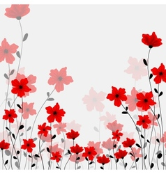 tall poppys vector image