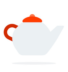 teapot flat material design isolated object on vector image