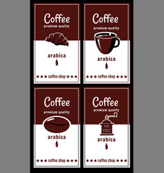 template for coffee shop croissant coffee vector image
