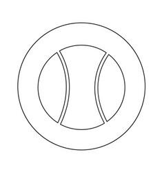 tennis ball icon design vector image