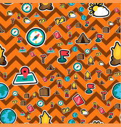 traveling seamless color pattern vector image
