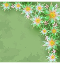 Vintage abstract background with flowers vector image
