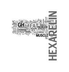 What is hexarelin text word cloud concept vector