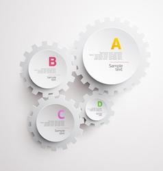White gears vector