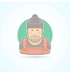 Worker repairman master icon vector image