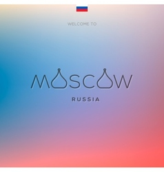 World Cities labels - Moscow vector image