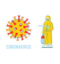 Wuhan novel coronavirus 2019 ncov woman or man vector