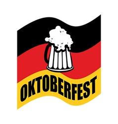 Beer mug on background of German flag Fflag is a vector image vector image