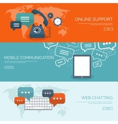 Global communication Social vector image vector image