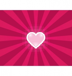 heart rays vector image vector image