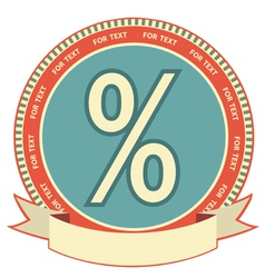 retro percentage label vector image