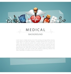 Blue Medical Background with Copy Space vector image vector image
