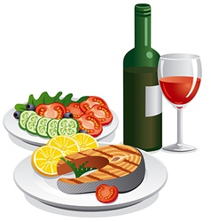 dinner vector image vector image