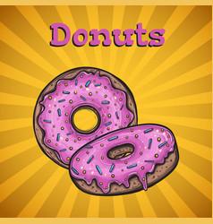 donuts menu cover vector image