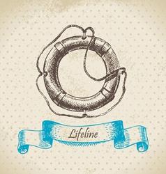 Lifeline hand drawn vector image vector image