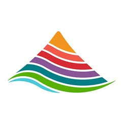 Mountain by layers logo vector image
