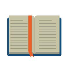 reading book separator vector image