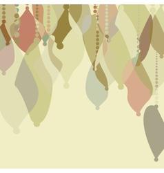 Retro Christmas ornaments EPS8 vector image vector image
