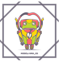 robot model number hma 03 vector image