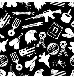 american veterans day celebration seamless pattern vector image