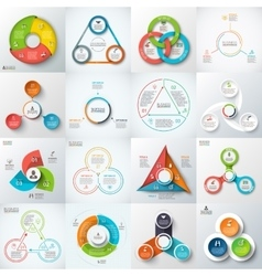 Big set of lements for infographic vector image