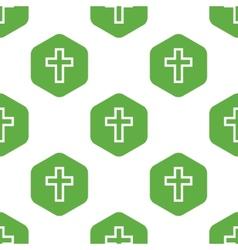 Christian cross pattern vector image vector image