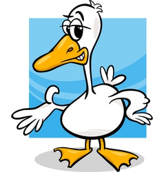 duck or goose cartoon farm bird vector image