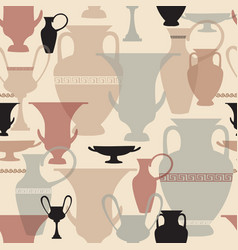 greek vase seamless pattern interiors background vector image vector image