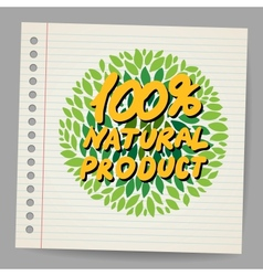 Natural product icon in doodle style vector image vector image