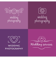 Wedding photography logo vector image