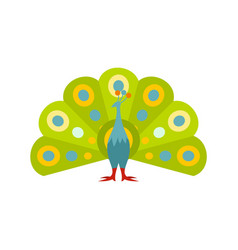 colorful peacock icon flat style vector image