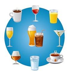 drinks icon set vector image