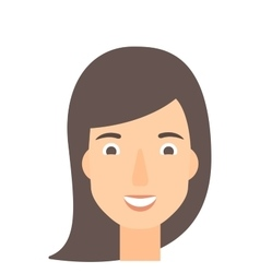 Smiling happy woman vector image
