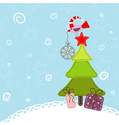 template christmas greeting card vector image vector image