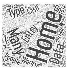 Typing Simple Data Entry For Cash Word Cloud vector image