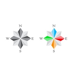 Windrose and compass vector