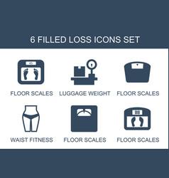 6 loss icons vector