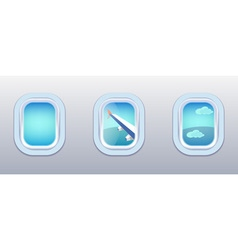 Aircraft Windows airplane windows vector image