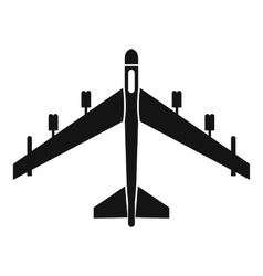 Armed fighter jet icon simple style vector image