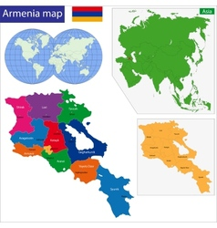 Armenia map vector image