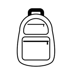 Backpack traveler vacation line vector