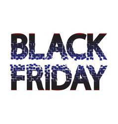black friday sale caption for banner poster vector image