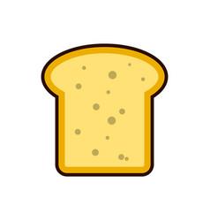 bread toast slice icon breakfast protein rich vector image