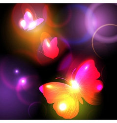 Bright Background With Butterflies vector
