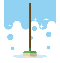 Broom cleaning product vector