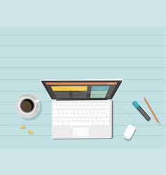 business corporate organization computer vector image