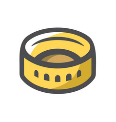 coliseum amphitheater in rome icon cartoon vector image