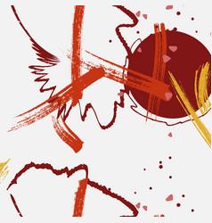 Contrast red grey yellow grunge splash vector