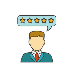 Customer reviews line icon vector